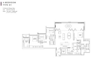One-Holland-Village-Floor-Plan-Quincy-type-D1-Singapore