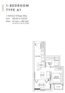One-Holland-Village-Floor-Plan-type-A1-Singapore