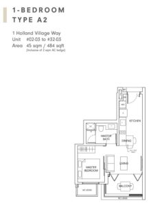 One-Holland-Village-Floor-Plan-type-A2-Singapore