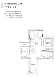 One-Holland-Village-Floor-Plan-type-B1-Singapore