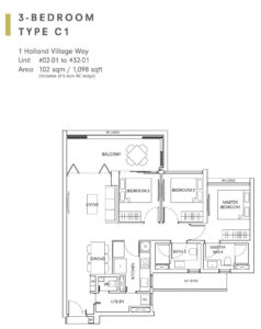 One-Holland-Village-Floor-Plan-type-C1-Singapore