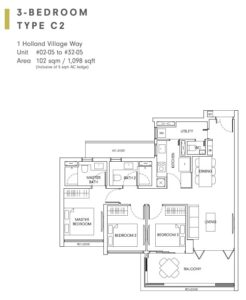 One-Holland-Village-Floor-Plan-type-C2-Singapore